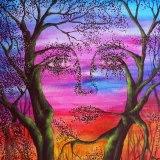 art trees woman