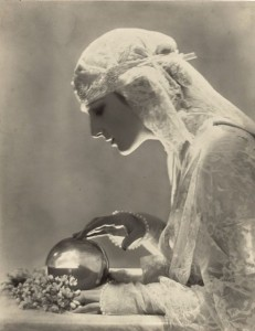 woman and crystal ball